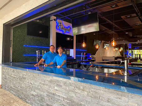 Outside bar area at the Hangout