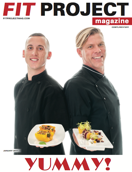 Chef Larry Falisi on cover of Fit Project Magazine