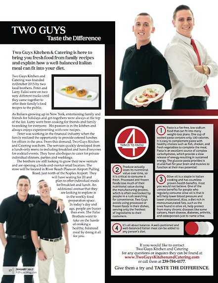 Two Guys Kiitchen & Catering in Fit Project Magazine