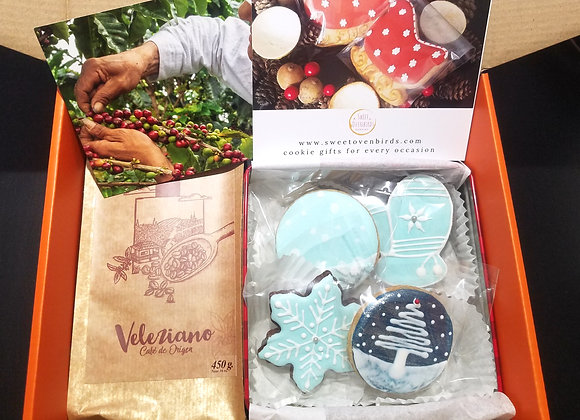 Deluxe Gift Box with Cookies and Coffee