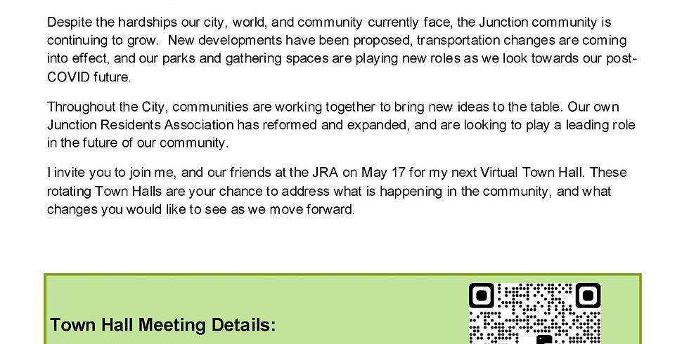 Councillor Perks' Junction and Runnymede North Virtual Town Hall