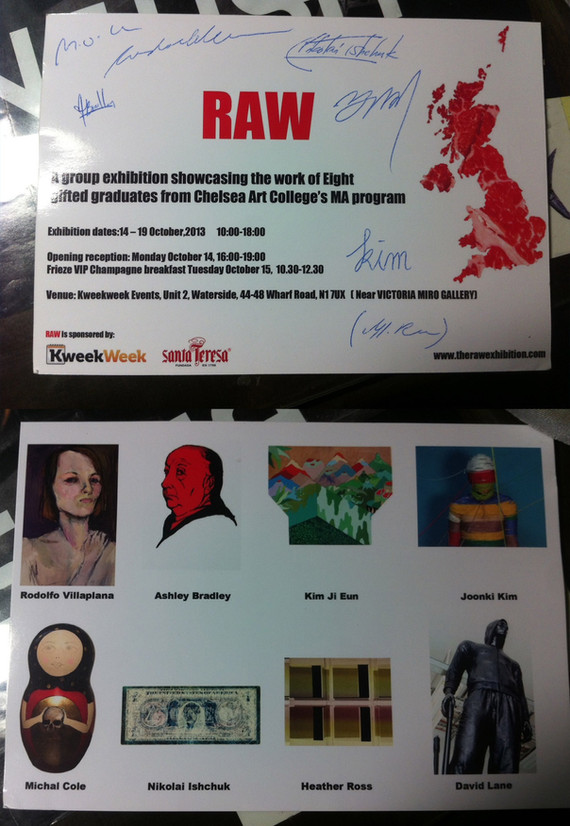 2013 RAW ART EXHIBITION, KweekWeek centre, (London, UK)