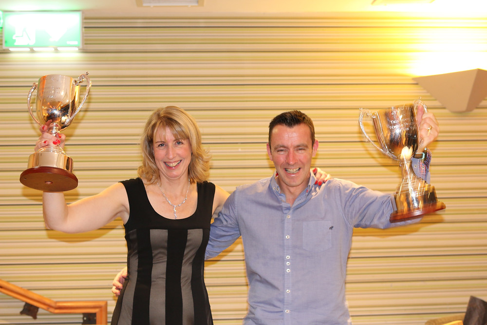 Eleanor Rooney and Barry Duffy, recipients of the Triathlete of the Year Awards