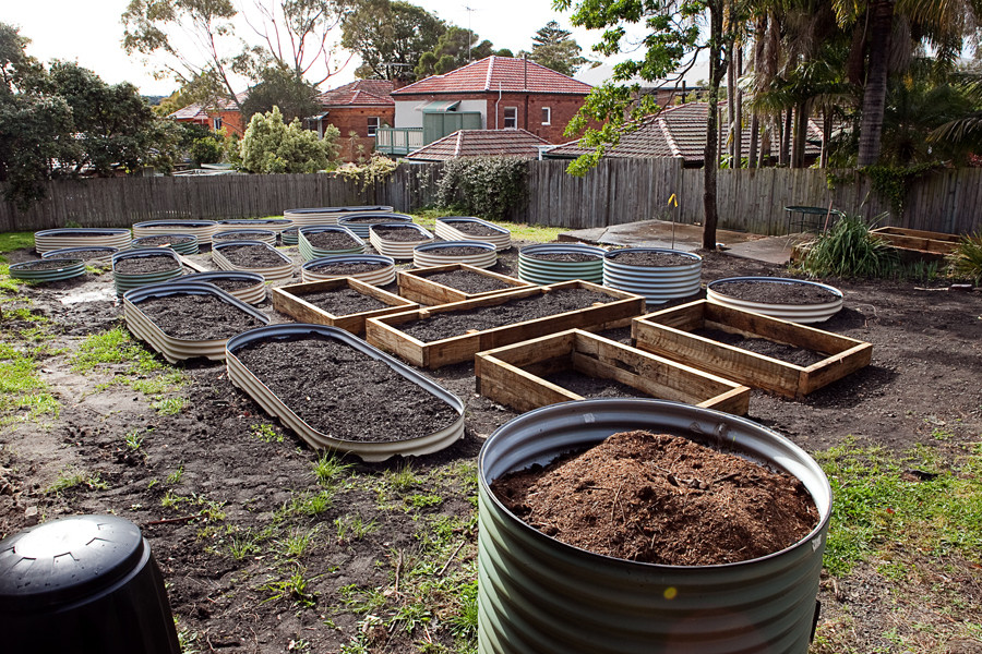 installing raised beds