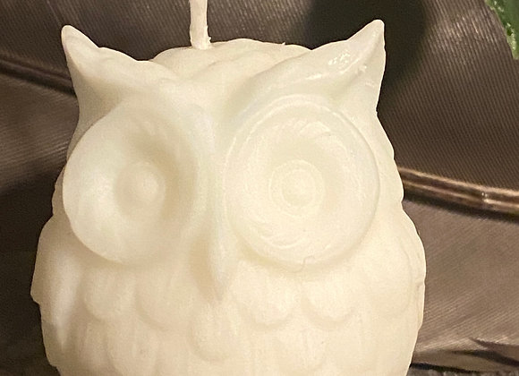 White Owl Ritual Candle