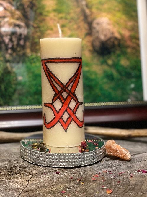Lucifer Pillar Candle