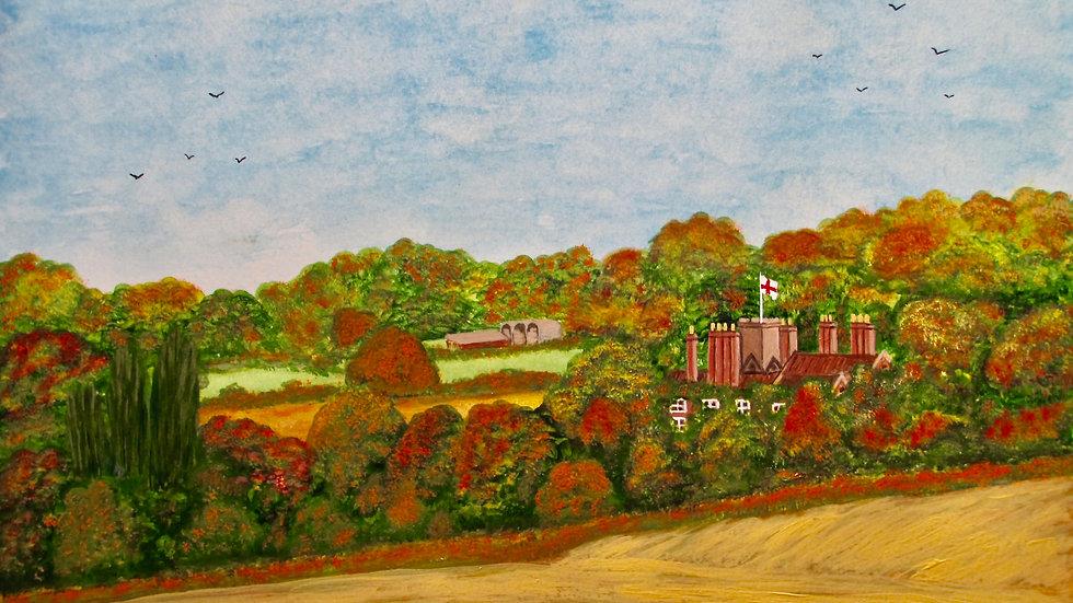 Autumn over Stourton Castle