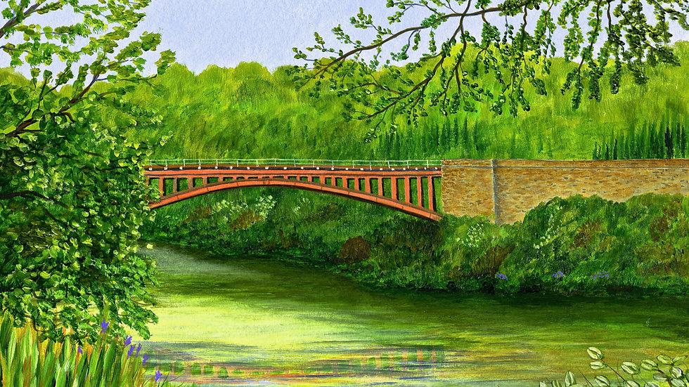 Victoria Bridge on the Severn Valley Railway