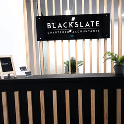 Glass Reception Sign