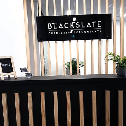 Reception Counter Glass Signage