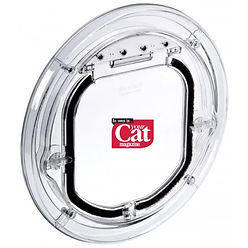 Standard Cat Door - Comesin White & Clear Surrounds