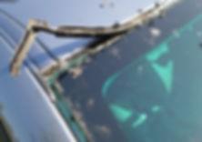 Damaged Windscreen Moulding