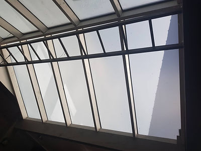 Canopy Roof - After Tinting with Frost Film