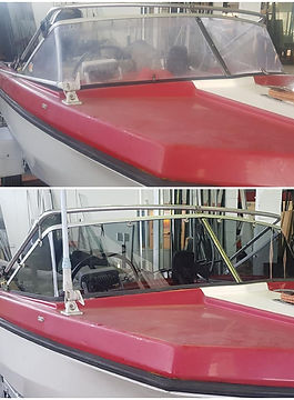 Replacement Grey Perspex Boat Screens