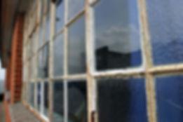 Deteriorated Window Putty