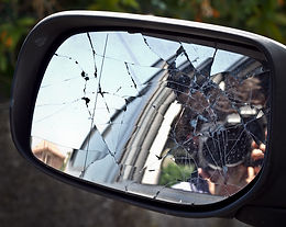 Smashed Wing Mirror Glass