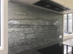 Slumped Glass Splashback