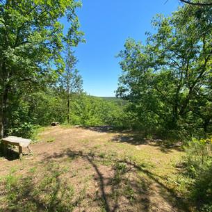 An overlook at Big Creek Natural Area