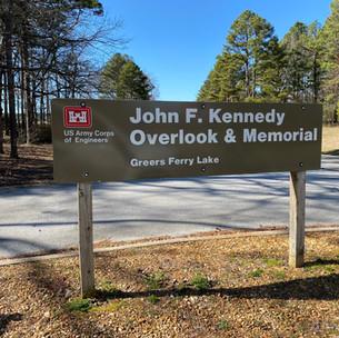 JFK Overlook Sign