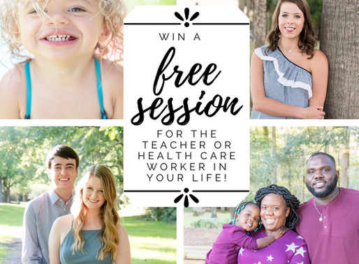 Session Giveaway for Teachers and Health Care Workers!