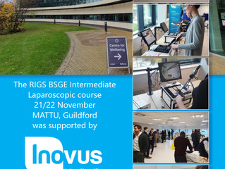 The Inovus Medical team support RIGS BSGE Intermediate Laparoscopic course at MATTU in Guildford