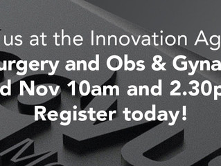 Join us at the Innovation Agency General Surgery and Obs & Gynae Webinar November 3rd