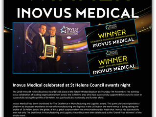 Inovus Medical celebrated at the Invest St Helens awards ceremony