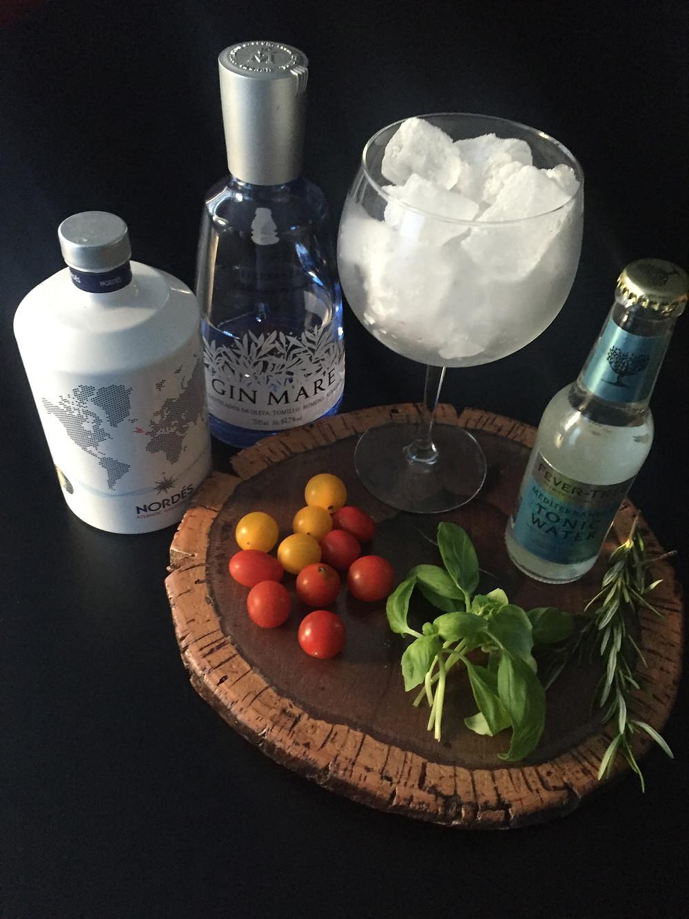 Gin Mare Gin Nordes Manjericão