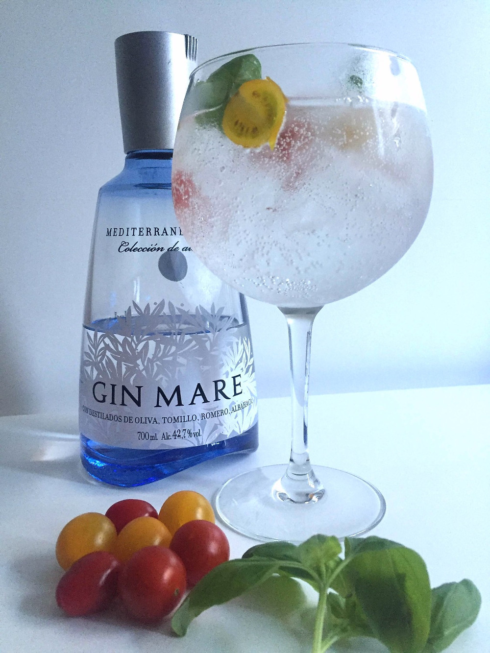 Gin Mare manjericão Tomate Cherry