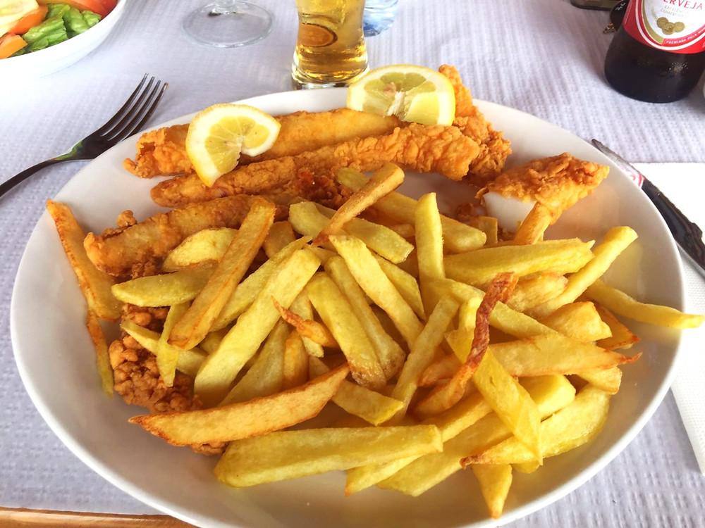 Restaurante O Folha - Choco frito