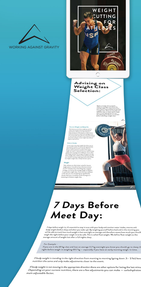 Weight Cutting for Athletes eBook