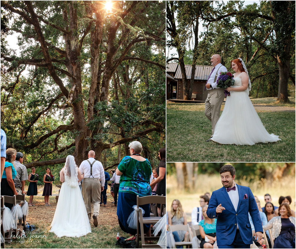 White Oak Tree Wedding Ceremony