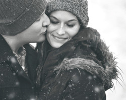 Zach and Kenzie Engagement 438bwsnow
