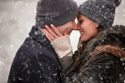 Zach and Kenzie Engagement 393snow