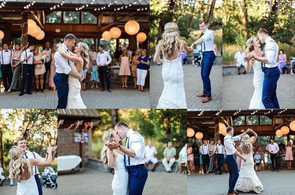 bride and groom first dance at Pisgah