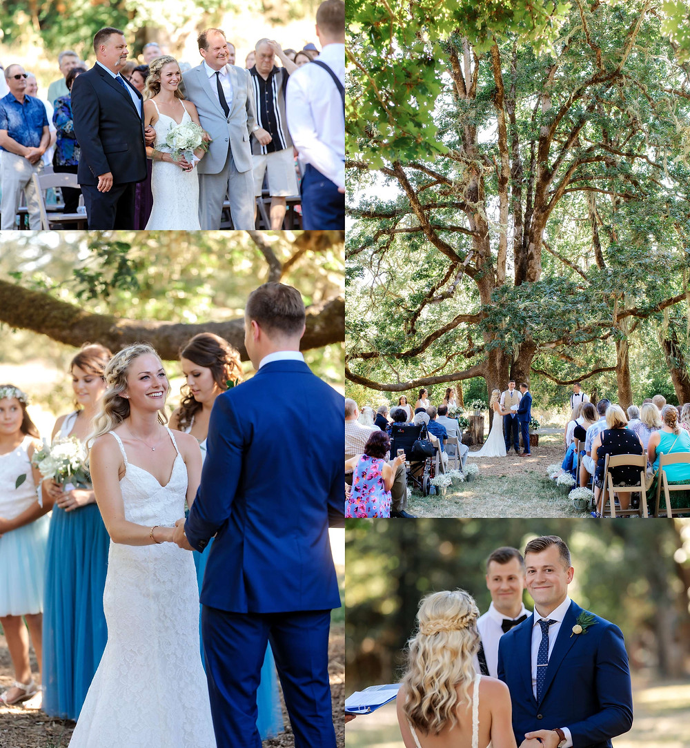 wedding ceremony at Mount Pisgah