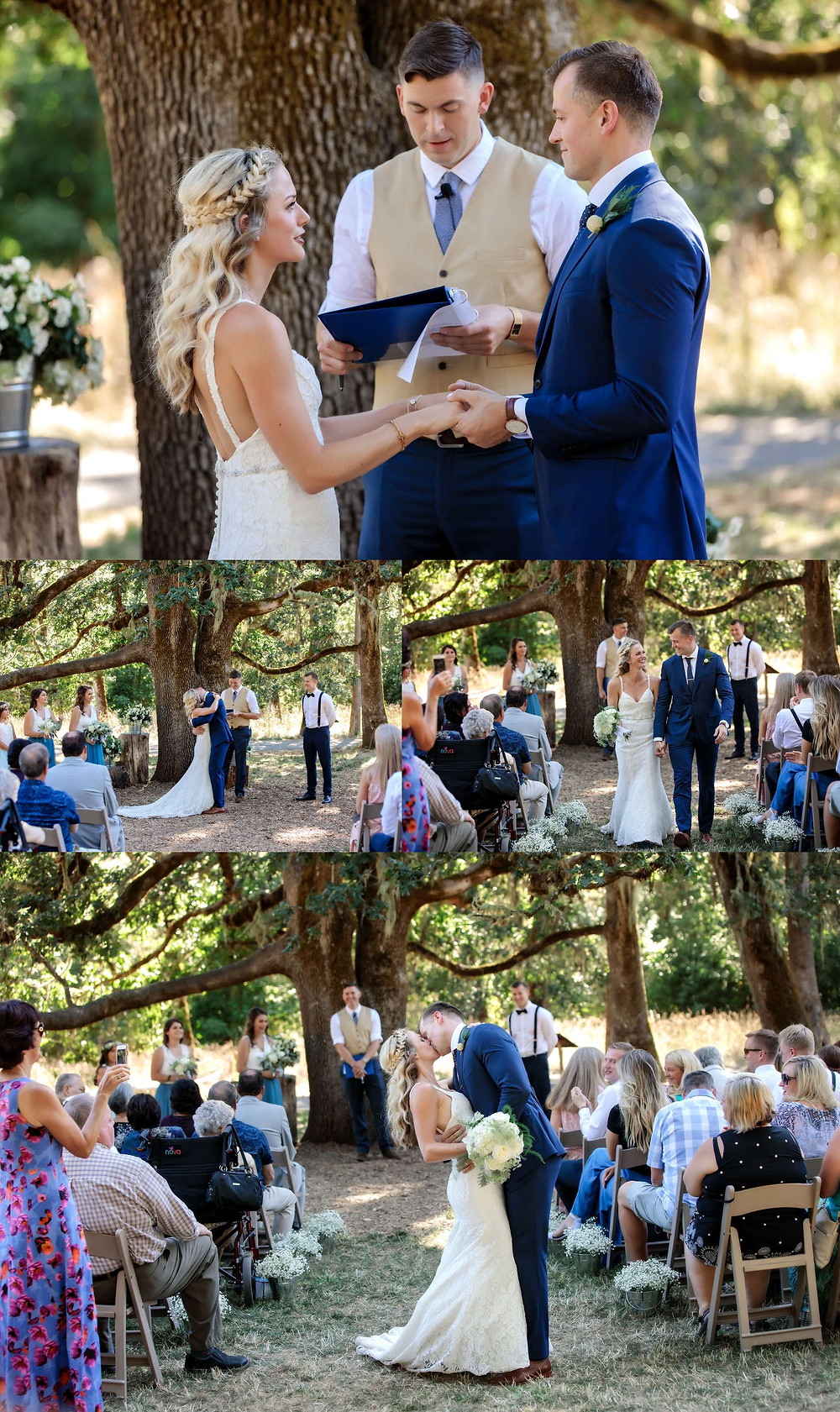 Wedding under oak tree at Mount Pisgah