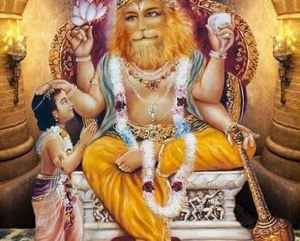 El devoto puro Prahlada Maharaj