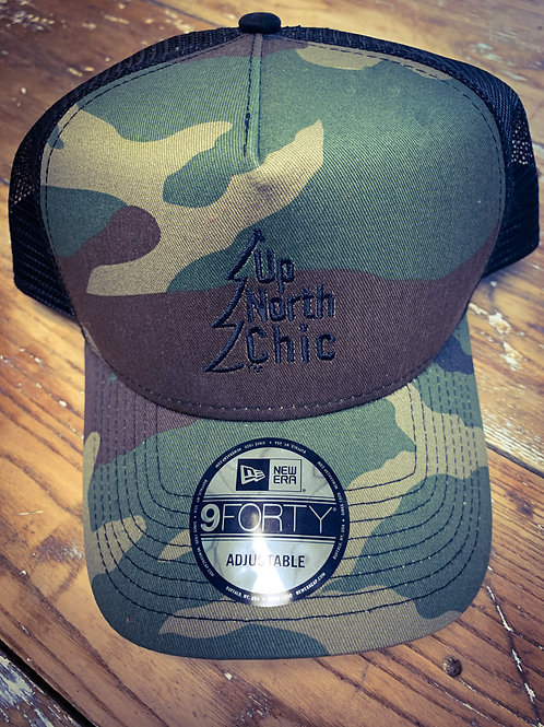 """UpNorth Chic"" Snapback Camo Trucker Hat"