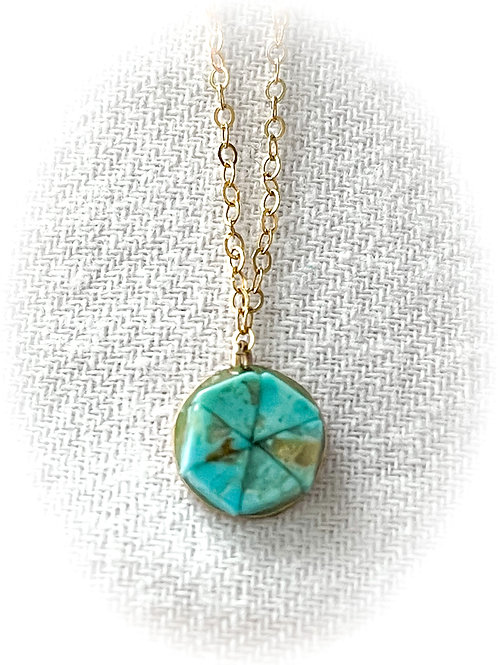 14kt Gold Fill & US Turquoise Necklace, UpNorth Chic