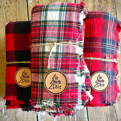 *Limited Edition* UpNorthChic Plaid Flannel Lap Blankets