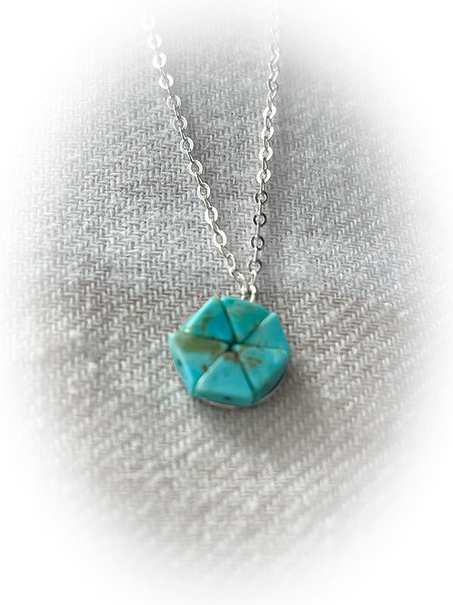 Sterling Silver and US Turquoise Necklace, UpNorth Chic
