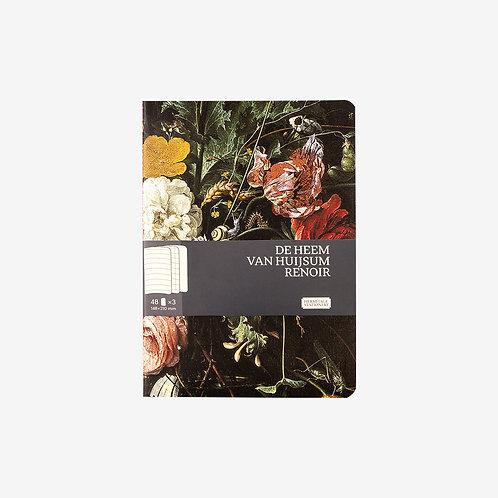 """Набор блокнотов """"Цветы"""" (148 x 210, 3 шт.)"""