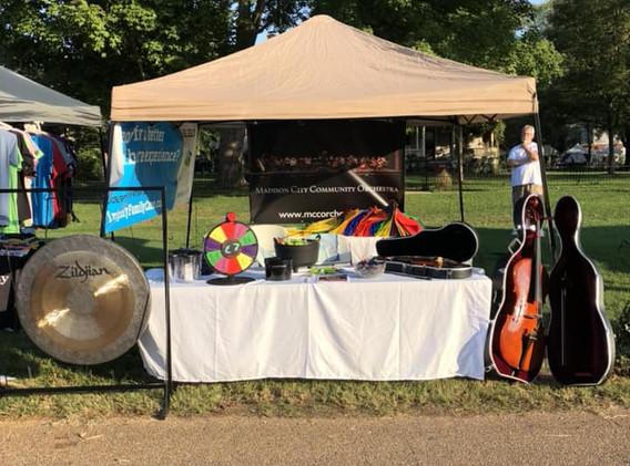 2018 Street Festival Booth