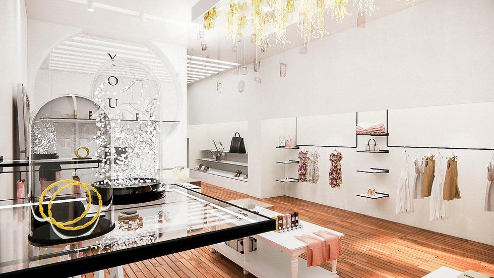 Projet d'une boutique de vêtements féminins