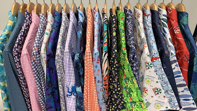 Bold men's printed shirt. Designed in Palm Beach, FL. 100% Cotton casual button down shirt. Wyatt Ingraham Designs