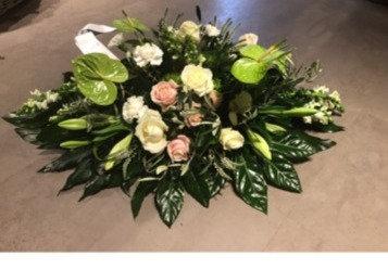 Rouwwerk wit rose