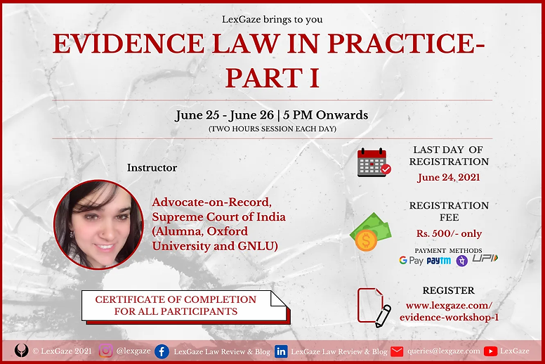 Workshop on Evidence Law in Practice- Pa