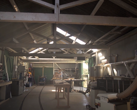 Sawdust Bureau's workshop is located in the Younghusband Wool Store in Kensington Melbourne