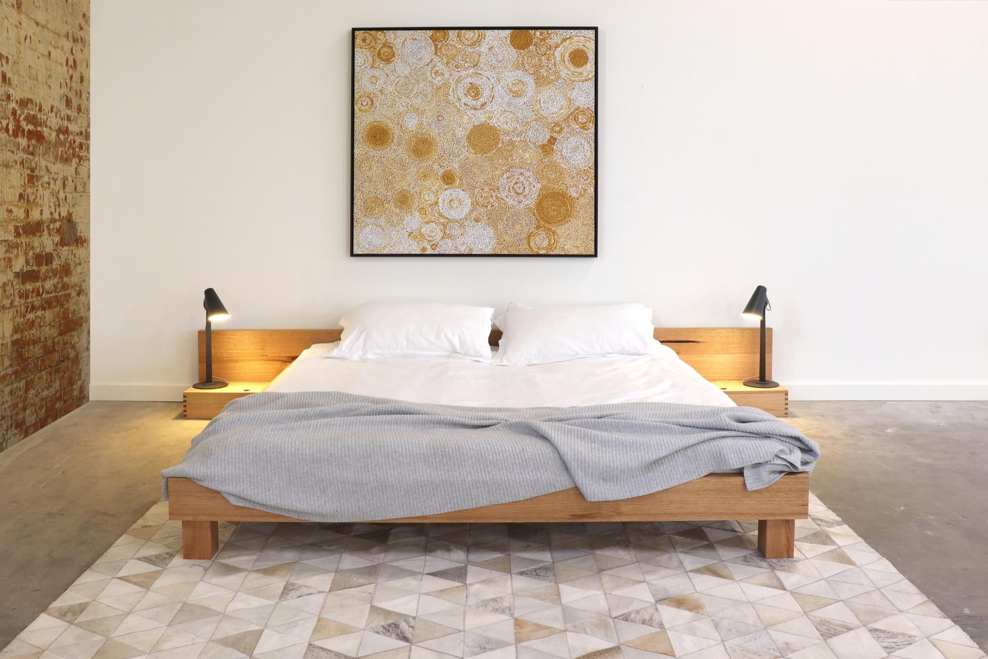 Inemuri bed by sawdust bureau bespoke furniture melbourne